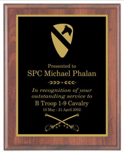 Going Away Quotes For Military Plaques: Laser Engraved Basic Plaque Award Plaques