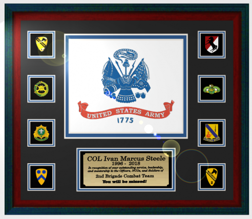 Custom Framed Army Retirement Gifts