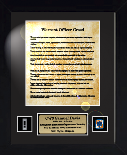 Custom Framed Military Quot Creeds Quot