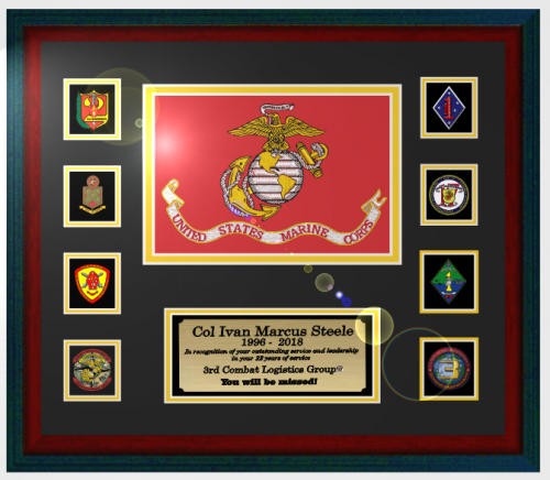 Framed Marine Corps Guidons