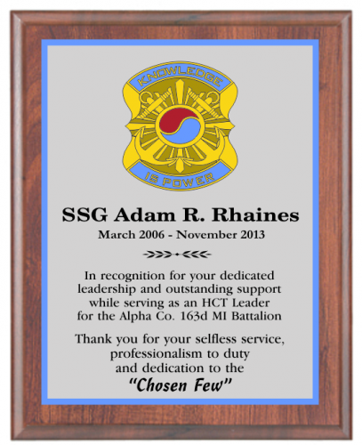Full Color Military Plaques