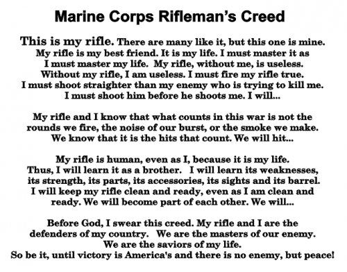 Marine Corps Creed Plaques