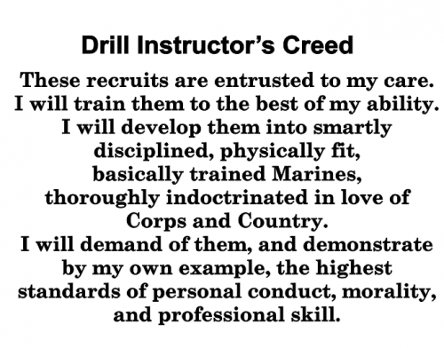 "Marine Corps Drill Instructor""s Creed Walnut Plaque Marine ..."