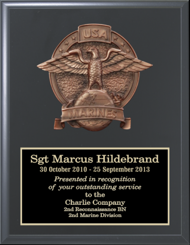 Marine Corps Relief Plaques