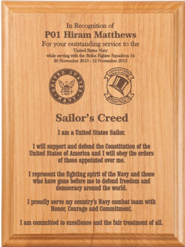sailors creed plaque military creed plaques and frames
