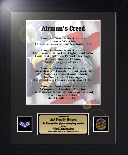 Airmans creed 11 x 14 military creed plaques and frames airmans creed 11 x 14 military creed plaques and frames thecheapjerseys Images