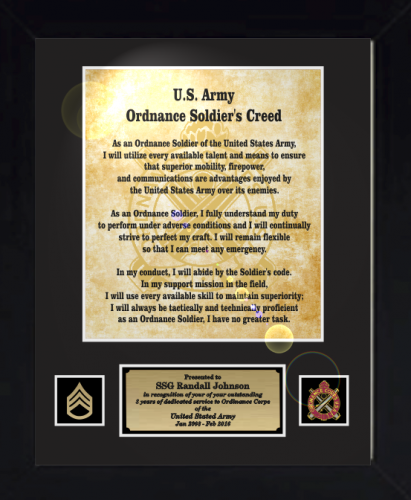 Military Quot Creed Quot Plaques And Frames