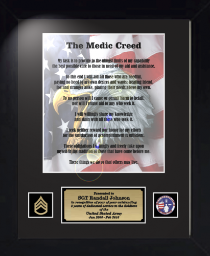 Military Creeds Framed Personalize