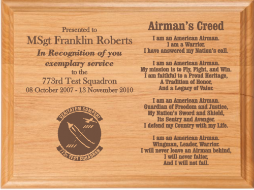 airman s creed plaque military gifts gift ideas