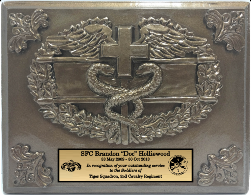 Combat Medic Badge Plaque Military Gifts Gift Ideas