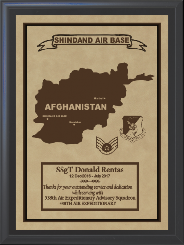 Military Overseas Tour Plaques