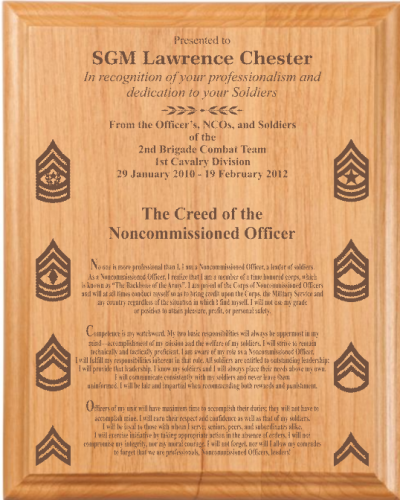 Military Plaques | Laser Engraved