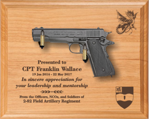 Ideal Military Retirement Gift Pistols BH02