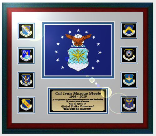 Framed Air Force Flag Gift 16 X 20 Military Retirement Gifts Ideas